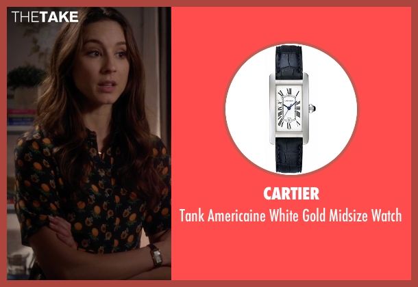 Cartier silver watch from Pretty Little Liars seen with Spencer Hastings  (Troian Bellisario)