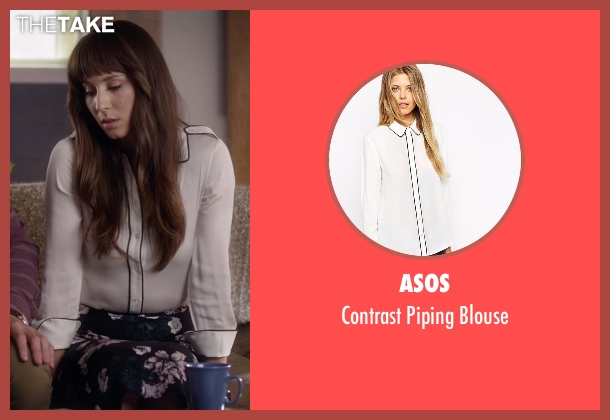 Asos white blouse from Pretty Little Liars seen with Spencer Hastings  (Troian Bellisario)