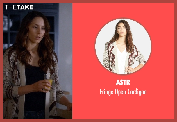 ASTR white cardigan from Pretty Little Liars seen with Spencer Hastings  (Troian Bellisario)