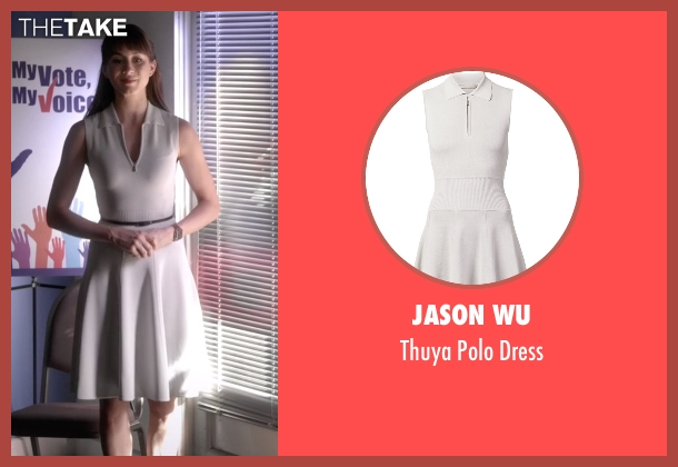 Jason Wu white dress from Pretty Little Liars seen with Spencer Hastings  (Troian Bellisario)