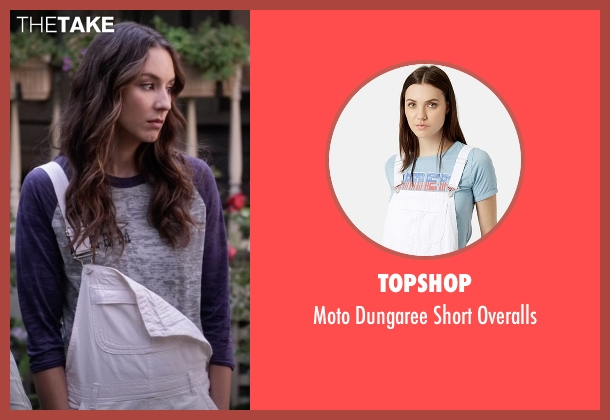 Topshop white overalls from Pretty Little Liars seen with Spencer Hastings  (Troian Bellisario)