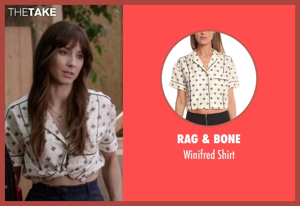 Rag & Bone white shirt from Pretty Little Liars seen with Spencer Hastings  (Troian Bellisario)