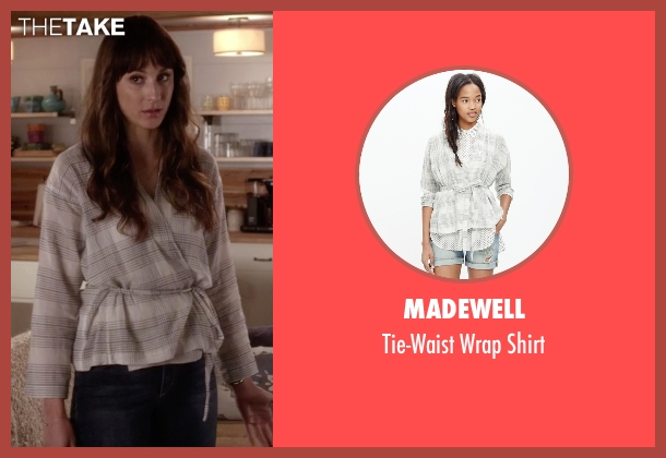 Madewell white shirt from Pretty Little Liars seen with Spencer Hastings  (Troian Bellisario)