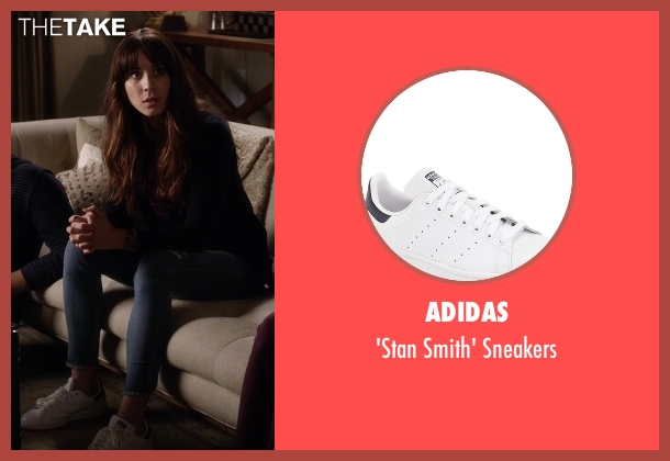 Adidas white sneakers from Pretty Little Liars seen with Spencer Hastings  (Troian Bellisario)