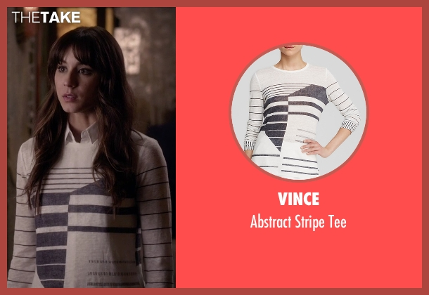 Vince white tee from Pretty Little Liars seen with Spencer Hastings  (Troian Bellisario)