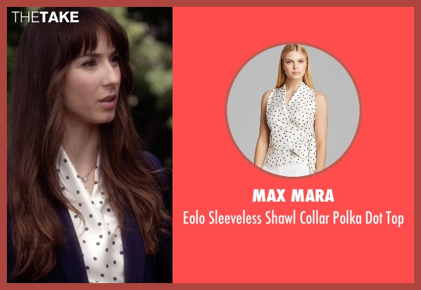 Max Mara white top from Pretty Little Liars seen with Spencer Hastings  (Troian Bellisario)