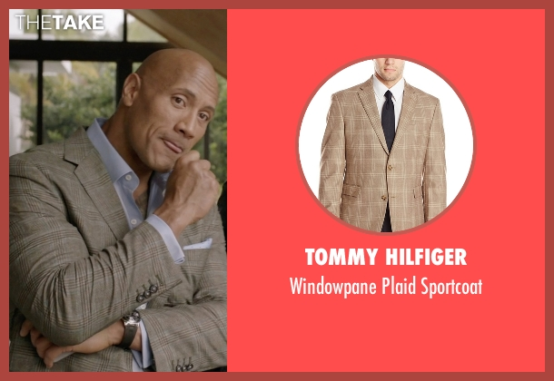 Tommy Hilfiger beige sportcoat from Ballers seen with Spencer Strasmore (Dwayne Johnson)