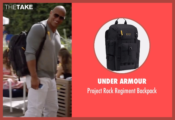 Under Armour black backpack from Ballers seen with Spencer Strasmore (Dwayne Johnson)