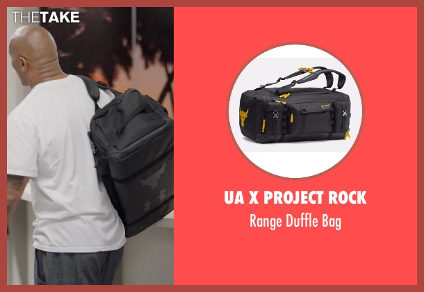 UA x Project Rock black bag from Ballers seen with Spencer Strasmore (Dwayne Johnson)