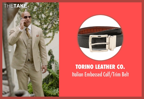 Torino Leather Co. black belt from Ballers seen with Spencer Strasmore (Dwayne Johnson)