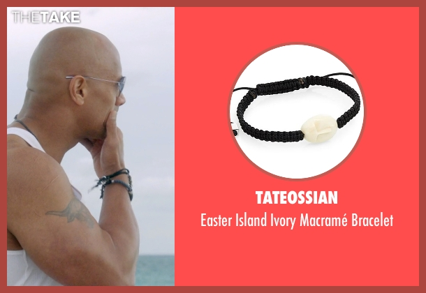 Tateossian black bracelet from Ballers seen with Spencer Strasmore (Dwayne Johnson)