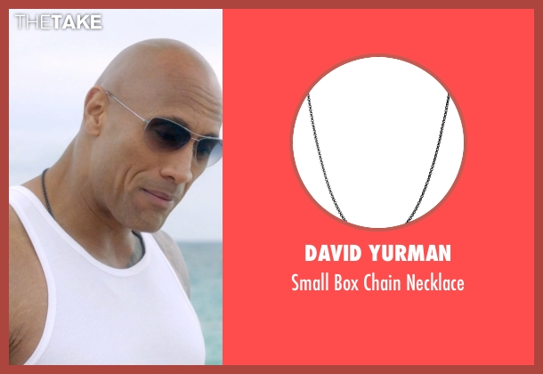 David Yurman black necklace from Ballers seen with Spencer Strasmore (Dwayne Johnson)