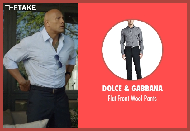 Dolce & Gabbana black pants from Ballers seen with Spencer Strasmore (Dwayne Johnson)
