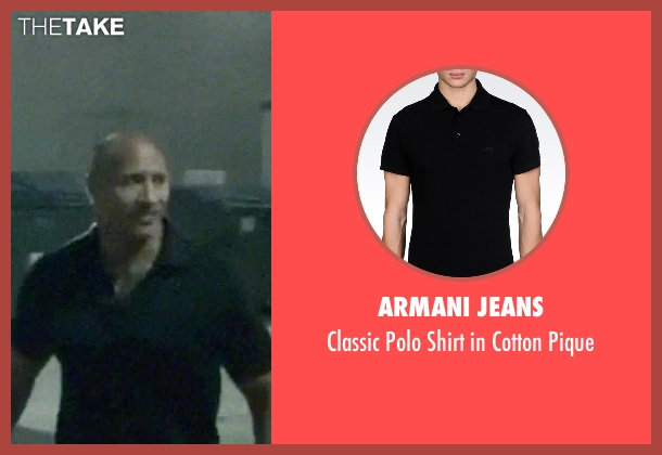Armani Jeans black pique from Ballers seen with Spencer Strasmore (Dwayne Johnson)
