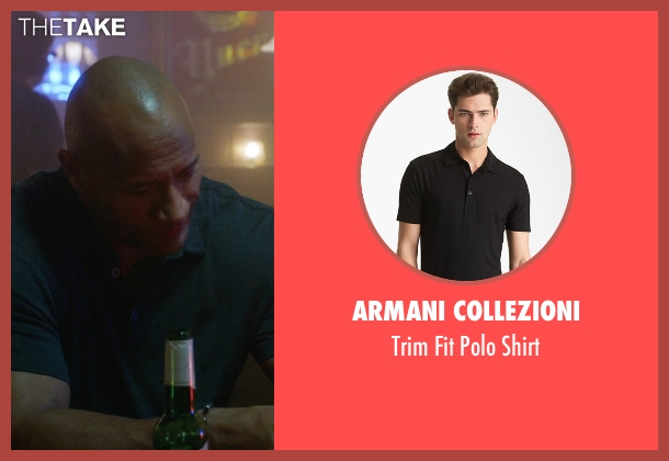 Armani Collezioni black shirt from Ballers seen with Spencer Strasmore (Dwayne Johnson)