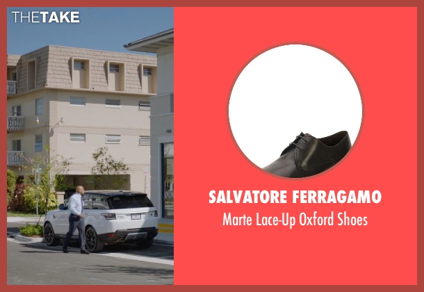 Salvatore Ferragamo	 black shoes from Ballers seen with Spencer Strasmore (Dwayne Johnson)