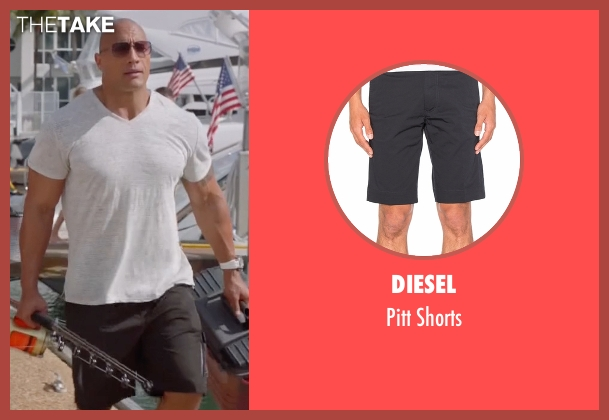 Diesel black shorts from Ballers seen with Spencer Strasmore (Dwayne Johnson)