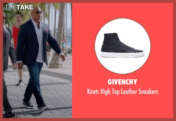 Givenchy black sneakers from Ballers seen with Spencer Strasmore (Dwayne Johnson)