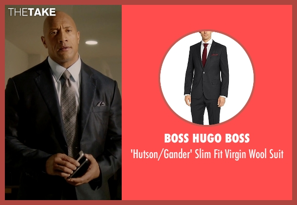 Boss Hugo Boss black suit from Ballers seen with Spencer Strasmore (Dwayne Johnson)