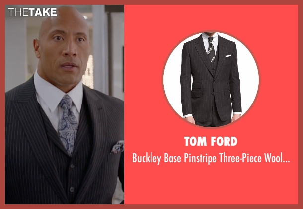 Tom Ford black suit from Ballers seen with Spencer Strasmore (Dwayne Johnson)