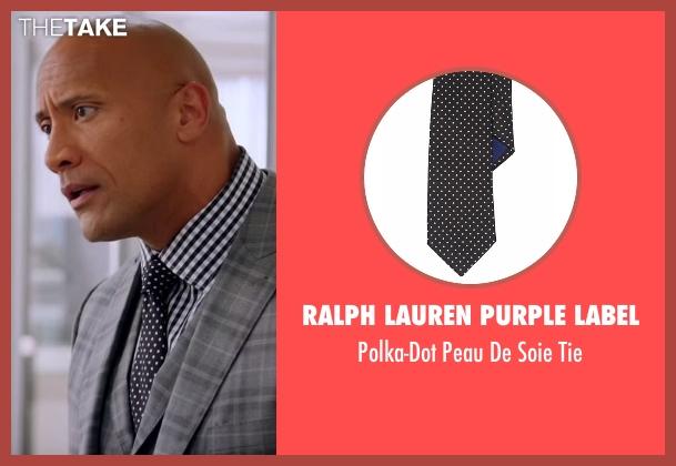 Ralph Lauren Purple Label black tie from Ballers seen with Spencer Strasmore (Dwayne Johnson)