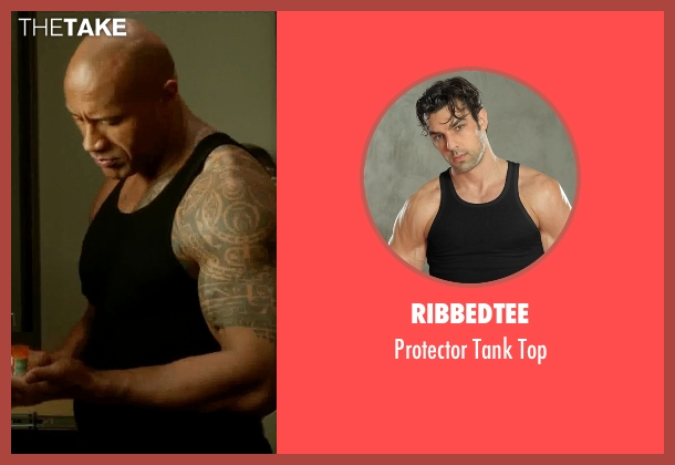 RibbedTee black top from Ballers seen with Spencer Strasmore (Dwayne Johnson)