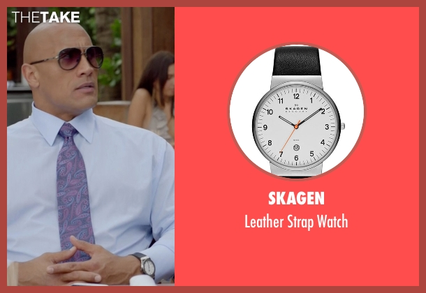 Skagen black watch from Ballers seen with Spencer Strasmore (Dwayne Johnson)
