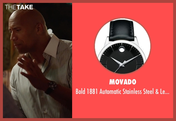 Movado black watch from Ballers seen with Spencer Strasmore (Dwayne Johnson)