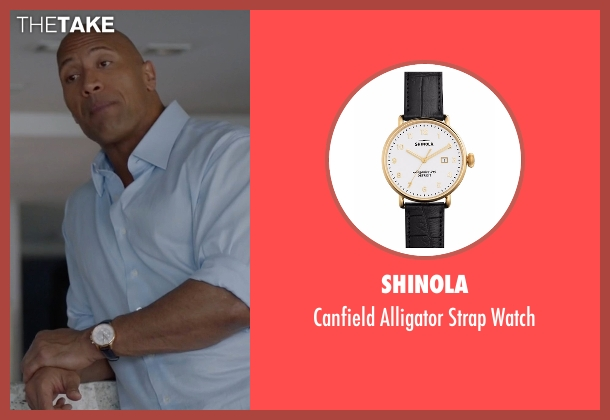 Shinola black watch from Ballers seen with Spencer Strasmore (Dwayne Johnson)