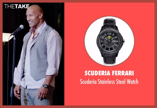 Scuderia Ferrari black watch from Ballers seen with Spencer Strasmore (Dwayne Johnson)