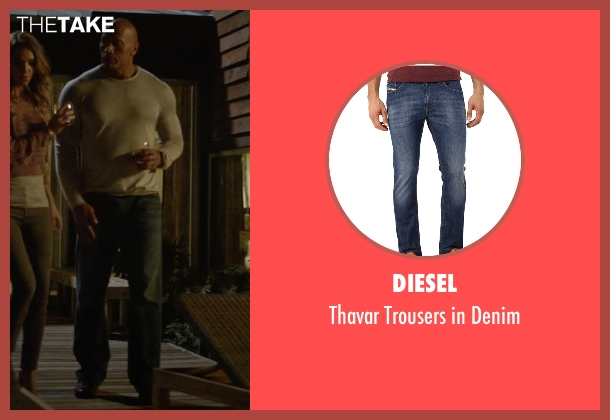 Diesel blue denim from Ballers seen with Spencer Strasmore (Dwayne Johnson)