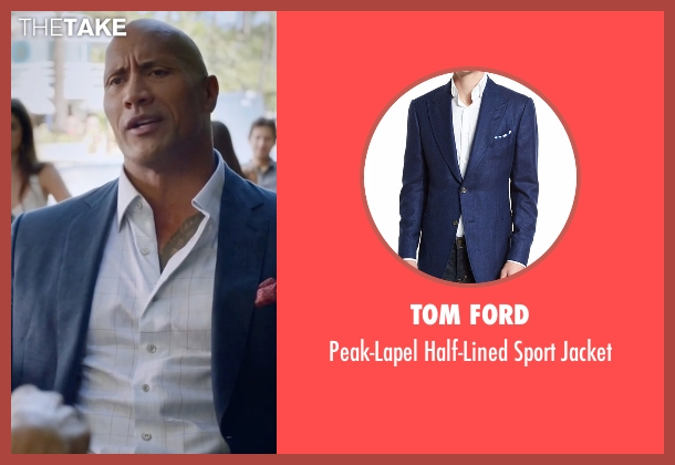 Tom Ford blue jacket from Ballers seen with Spencer Strasmore (Dwayne Johnson)