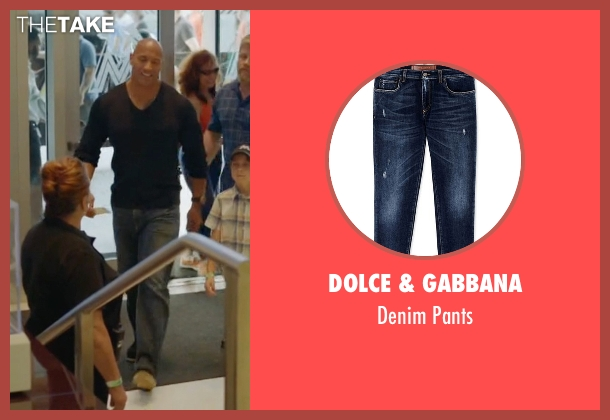 Dolce & Gabbana blue pants from Ballers seen with Spencer Strasmore (Dwayne Johnson)