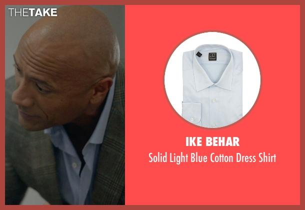 Ike Behar blue shirt from Ballers seen with Spencer Strasmore (Dwayne Johnson)