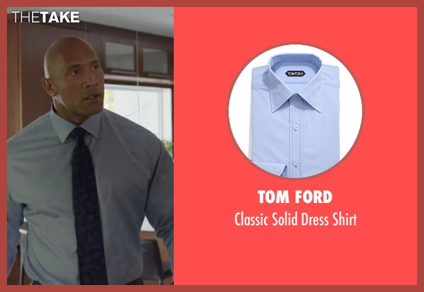 Tom Ford	 blue shirt from Ballers seen with Spencer Strasmore (Dwayne Johnson)
