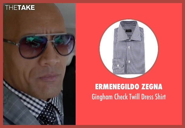 Ermenegildo Zegna blue shirt from Ballers seen with Spencer Strasmore (Dwayne Johnson)
