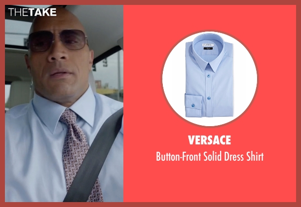 Versace blue shirt from Ballers seen with Spencer Strasmore (Dwayne Johnson)