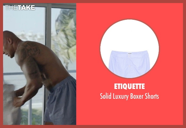 Etiquette blue shorts from Ballers seen with Spencer Strasmore (Dwayne Johnson)