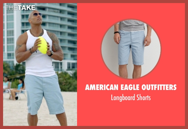 American Eagle Outfitters blue shorts from Ballers seen with Spencer Strasmore (Dwayne Johnson)