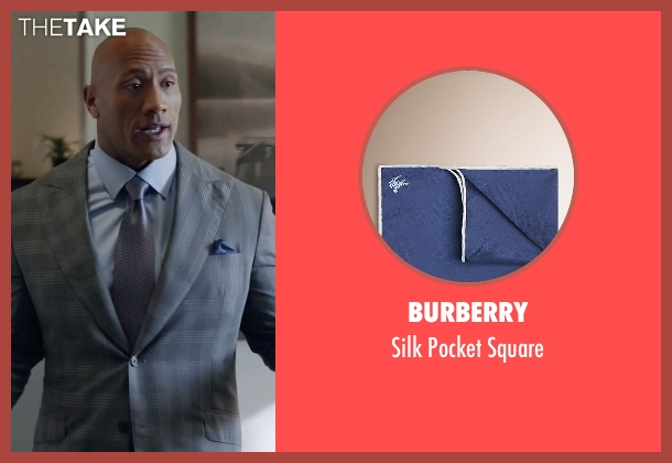 Burberry blue square from Ballers seen with Spencer Strasmore (Dwayne Johnson)