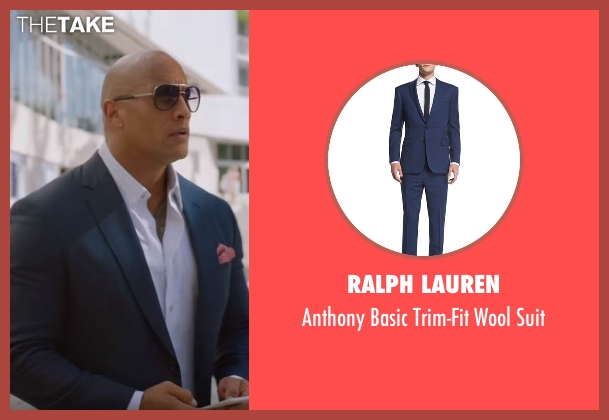 Ralph Lauren blue suit from Ballers seen with Spencer Strasmore (Dwayne Johnson)
