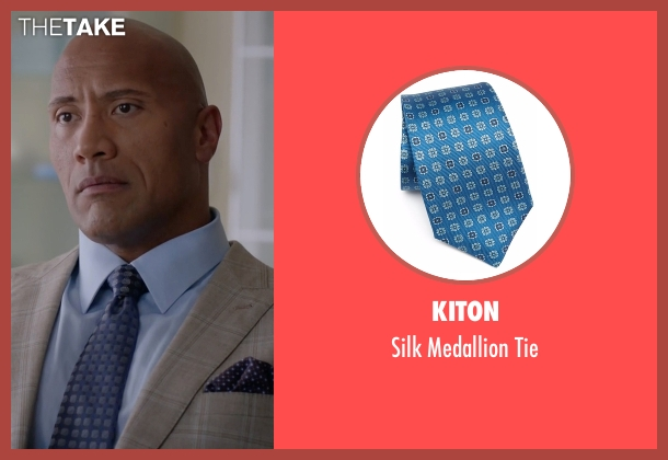 Kiton  blue tie from Ballers seen with Spencer Strasmore (Dwayne Johnson)