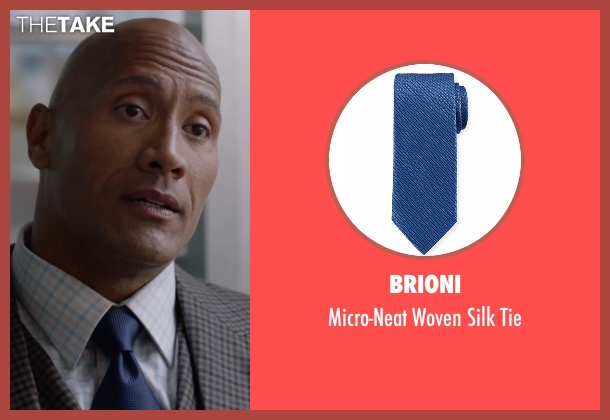 Brioni blue tie from Ballers seen with Spencer Strasmore (Dwayne Johnson)