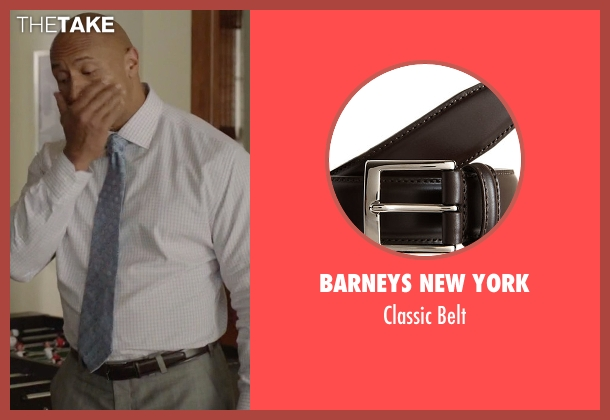 Barneys New York brown belt from Ballers seen with Spencer Strasmore (Dwayne Johnson)