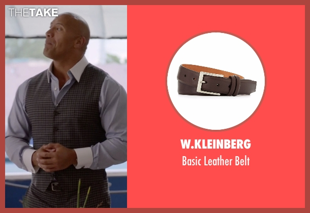 W.Kleinberg brown belt from Ballers seen with Spencer Strasmore (Dwayne Johnson)