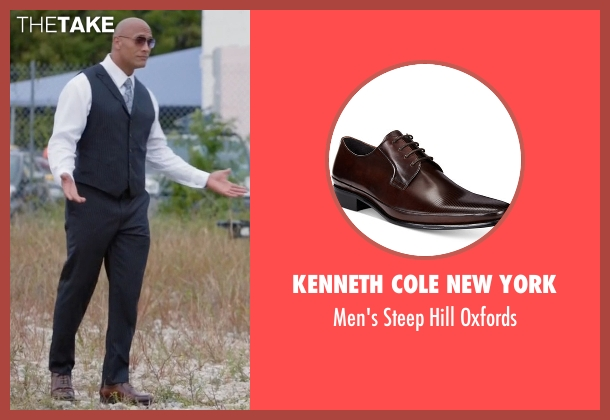Kenneth Cole New York brown oxfords from Ballers seen with Spencer Strasmore (Dwayne Johnson)