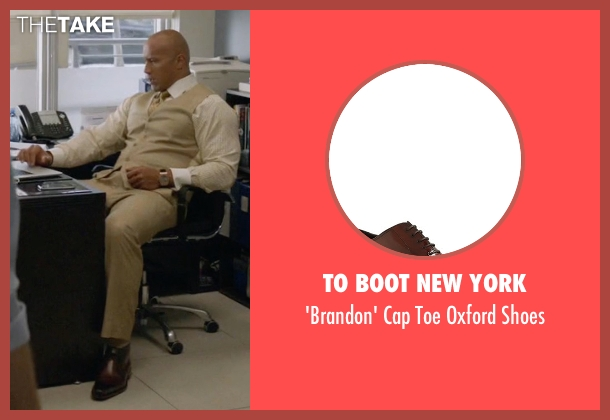 To Boot New York brown shoes from Ballers seen with Spencer Strasmore (Dwayne Johnson)