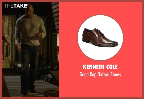 Kenneth Cole brown shoes from Ballers seen with Spencer Strasmore (Dwayne Johnson)