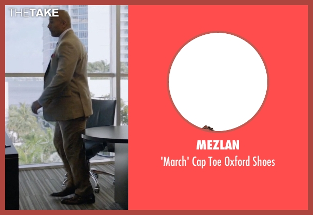Mezlan brown shoes from Ballers seen with Spencer Strasmore (Dwayne Johnson)