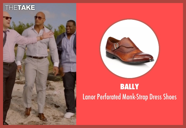 Bally brown shoes from Ballers seen with Spencer Strasmore (Dwayne Johnson)